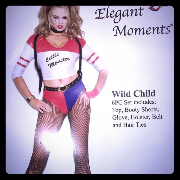 Harley Quinn Wild Child Costume. M_5b6a37f2477368d1fdb52a84